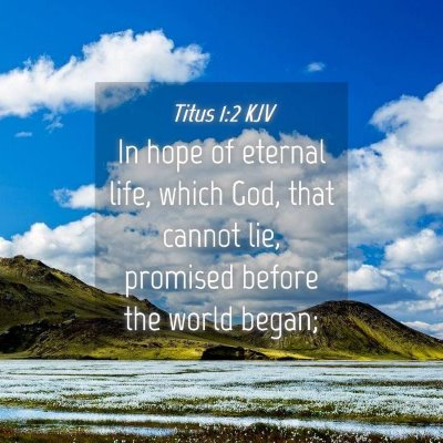 Picture 04 - Titus 1:2 KJV - In hope of eternal life, which God, that cannot - Bible Verse Picture