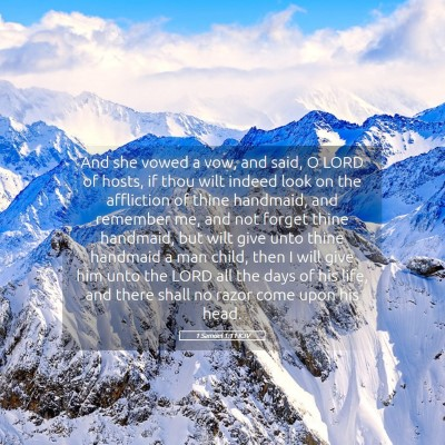 Picture 05 - 1 Samuel 1:11 KJV - And she vowed a vow, and said, O LORD of hosts, - Bible Verse Picture