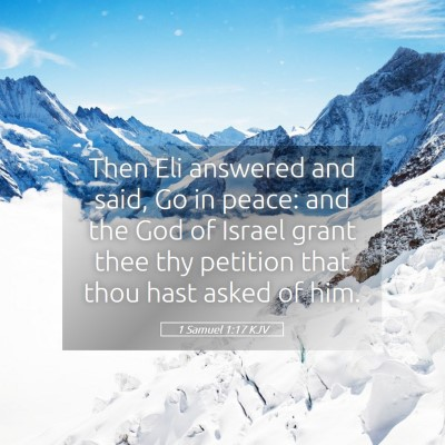 Picture 05 - 1 Samuel 1:17 KJV - Then Eli answered and said, Go in peace: and the - Bible Verse Picture