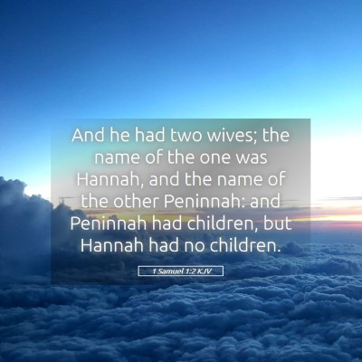 Picture 05 - 1 Samuel 1:2 KJV - And he had two wives; the name of the one was - Bible Verse Picture