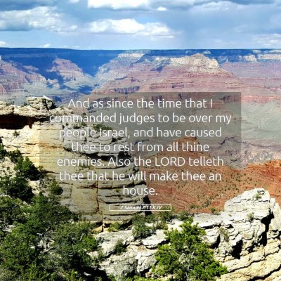 Picture 05 - 2 Samuel 7:11 KJV - And as since the time that I commanded judges to - Bible Verse Picture
