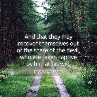 Picture 05 - 2 Timothy 2:26 KJV - And that they may recover themselves out of the - Bible Verse Picture