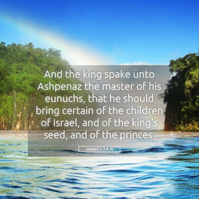 Picture 05 - Daniel 1:3 KJV - And the king spake unto Ashpenaz the master of - Bible Verse Picture