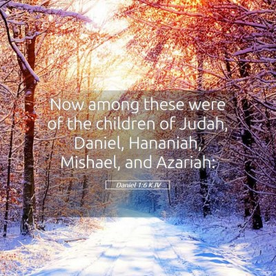 Picture 05 - Daniel 1:6 KJV - Now among these were of the children of Judah, - Bible Verse Picture