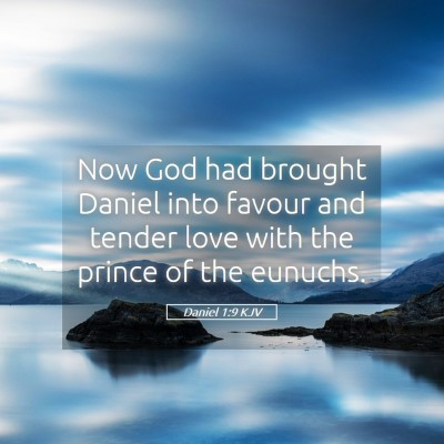 Picture 05 - Daniel 1:9 KJV - Now God had brought Daniel into favour and tender - Bible Verse Picture