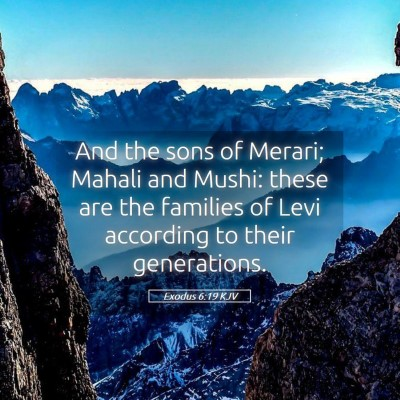 Picture 05 - Exodus 6:19 KJV - And the sons of Merari; Mahali and Mushi: these - Bible Verse Picture