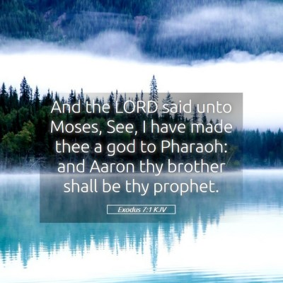 Picture 05 - Exodus 7:1 KJV - And the LORD said unto Moses, See, I have made - Bible Verse Picture