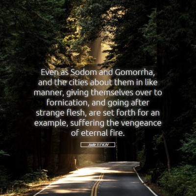 Picture 05 - Jude 1:7 KJV - Even as Sodom and Gomorrha, and the cities about - Bible Verse Picture