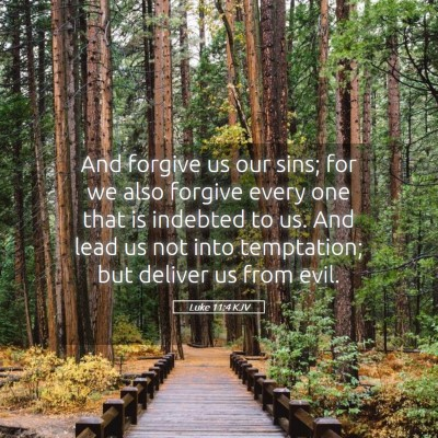 Picture 05 - Luke 11:4 KJV - And forgive us our sins; for we also forgive - Bible Verse Picture