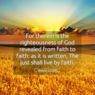 Picture 05 - Romans 1:17 KJV - For therein is the righteousness of God revealed - Bible Verse Picture
