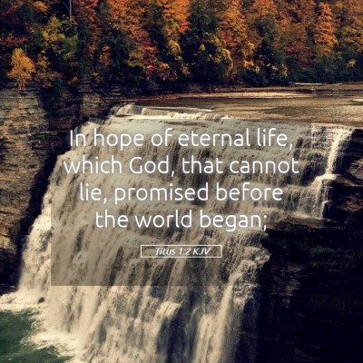 Picture 05 - Titus 1:2 KJV - In hope of eternal life, which God, that cannot - Bible Verse Picture