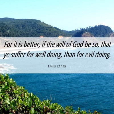 Picture 06 - 1 Peter 3:17 KJV - For it is better, if the will of God be so, that - Bible Verse Picture