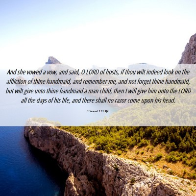 Picture 06 - 1 Samuel 1:11 KJV - And she vowed a vow, and said, O LORD of hosts, - Bible Verse Picture