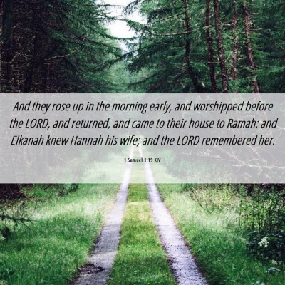 Picture 06 - 1 Samuel 1:19 KJV - And they rose up in the morning early, and - Bible Verse Picture
