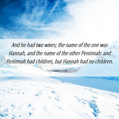 Picture 06 - 1 Samuel 1:2 KJV - And he had two wives; the name of the one was - Bible Verse Picture