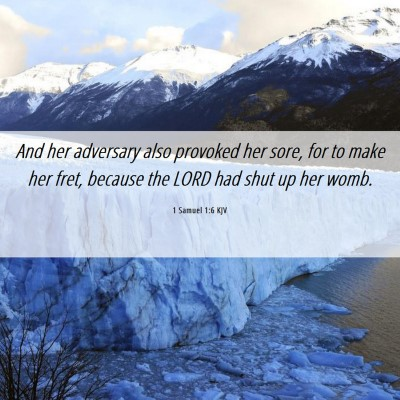 Picture 06 - 1 Samuel 1:6 KJV - And her adversary also provoked her sore, for to - Bible Verse Picture