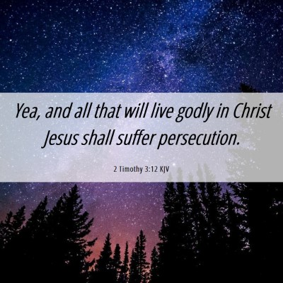 Picture 06 - 2 Timothy 3:12 KJV - Yea, and all that will live godly in Christ Jesus - Bible Verse Picture