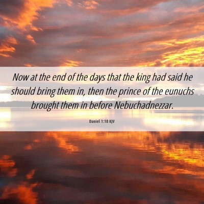 Picture 06 - Daniel 1:18 KJV - Now at the end of the days that the king had said - Bible Verse Picture