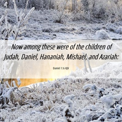 Picture 06 - Daniel 1:6 KJV - Now among these were of the children of Judah, - Bible Verse Picture