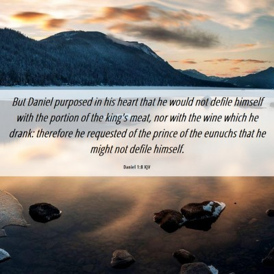 Picture 06 - Daniel 1:8 KJV - But Daniel purposed in his heart that he would - Bible Verse Picture