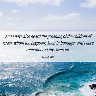 Picture 06 - Exodus 6:5 KJV - And I have also heard the groaning of the - Bible Verse Picture