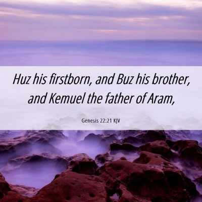 Picture 06 - Genesis 22:21 KJV - Huz his firstborn, and Buz his brother, and - Bible Verse Picture