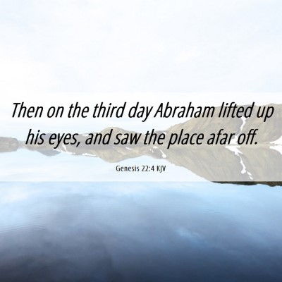 Picture 06 - Genesis 22:4 KJV - Then on the third day Abraham lifted up his eyes, - Bible Verse Picture