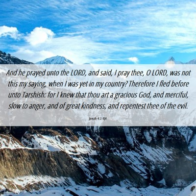 Picture 06 - Jonah 4:2 KJV - And he prayed unto the LORD, and said, I pray - Bible Verse Picture