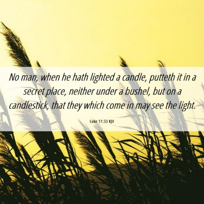 Picture 06 - Luke 11:33 KJV - No man, when he hath lighted a candle, putteth it - Bible Verse Picture