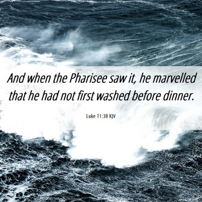 Picture 06 - Luke 11:38 KJV - And when the Pharisee saw it, he marvelled that - Bible Verse Picture