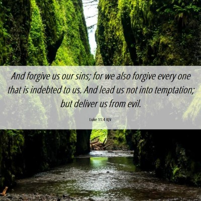 Picture 06 - Luke 11:4 KJV - And forgive us our sins; for we also forgive - Bible Verse Picture