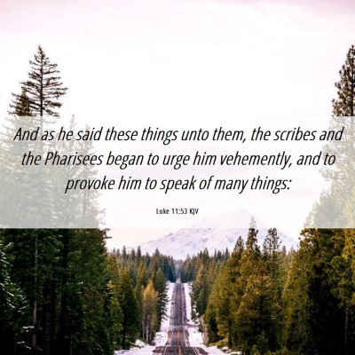 Picture 06 - Luke 11:53 KJV - And as he said these things unto them, the - Bible Verse Picture