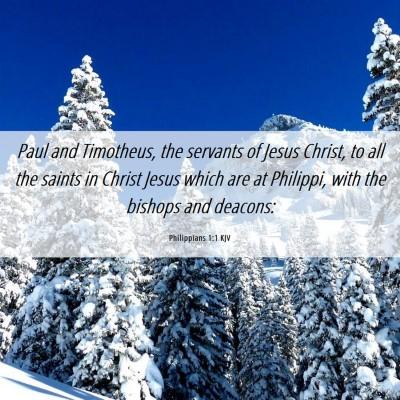 Picture 06 - Philippians 1:1 KJV - Paul and Timotheus, the servants of Jesus Christ, - Bible Verse Picture
