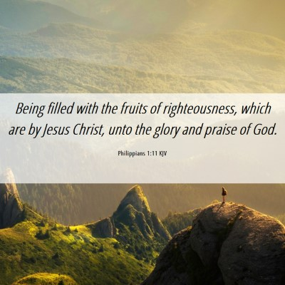 Picture 06 - Philippians 1:11 KJV - Being filled with the fruits of righteousness, - Bible Verse Picture