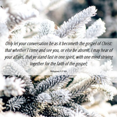 Picture 06 - Philippians 1:27 KJV - Only let your conversation be as it becometh the - Bible Verse Picture