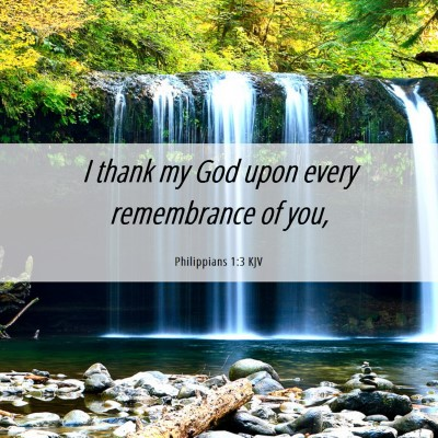 Picture 06 - Philippians 1:3 KJV - I thank my God upon every remembrance of - Bible Verse Picture