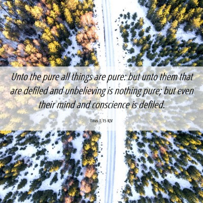Picture 06 - Titus 1:15 KJV - Unto the pure all things are pure: but unto them - Bible Verse Picture