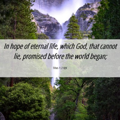 Picture 06 - Titus 1:2 KJV - In hope of eternal life, which God, that cannot - Bible Verse Picture