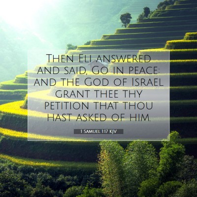 Picture 07 - 1 Samuel 1:17 KJV - Then Eli answered and said, Go in peace: and the - Bible Verse Picture