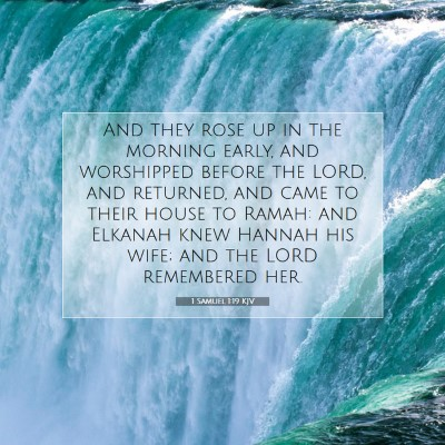 Picture 07 - 1 Samuel 1:19 KJV - And they rose up in the morning early, and - Bible Verse Picture