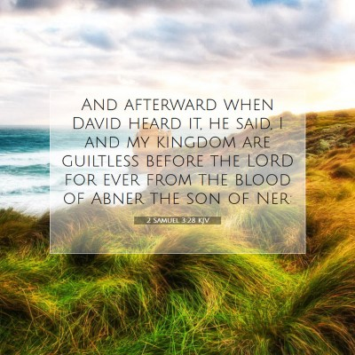 Picture 07 - 2 Samuel 3:28 KJV - And afterward when David heard it, he said, I and - Bible Verse Picture