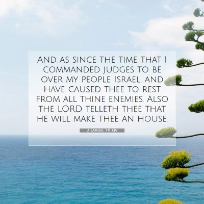 Picture 07 - 2 Samuel 7:11 KJV - And as since the time that I commanded judges to - Bible Verse Picture
