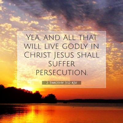Picture 07 - 2 Timothy 3:12 KJV - Yea, and all that will live godly in Christ Jesus - Bible Verse Picture