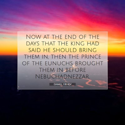 Picture 07 - Daniel 1:18 KJV - Now at the end of the days that the king had said - Bible Verse Picture