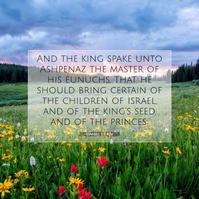 Picture 07 - Daniel 1:3 KJV - And the king spake unto Ashpenaz the master of - Bible Verse Picture