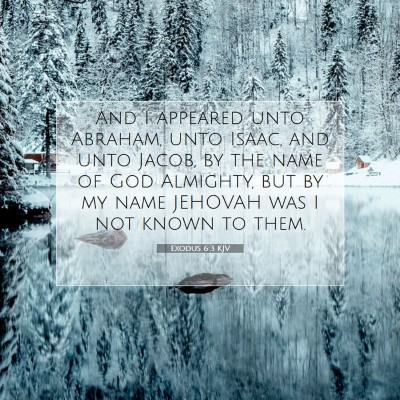 Picture 07 - Exodus 6:3 KJV - And I appeared unto Abraham, unto Isaac, and unto - Bible Verse Picture