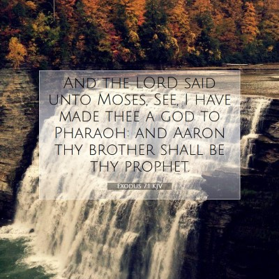 Picture 07 - Exodus 7:1 KJV - And the LORD said unto Moses, See, I have made - Bible Verse Picture