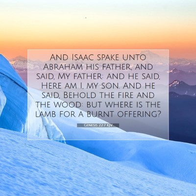 Picture 07 - Genesis 22:7 KJV - And Isaac spake unto Abraham his father, and - Bible Verse Picture