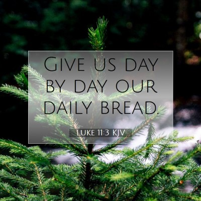 Picture 07 - Luke 11:3 KJV - Give us day by day our daily - Bible Verse Picture
