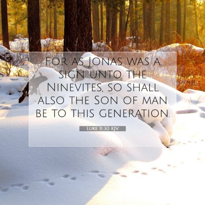 Picture 07 - Luke 11:30 KJV - For as Jonas was a sign unto the Ninevites, so - Bible Verse Picture